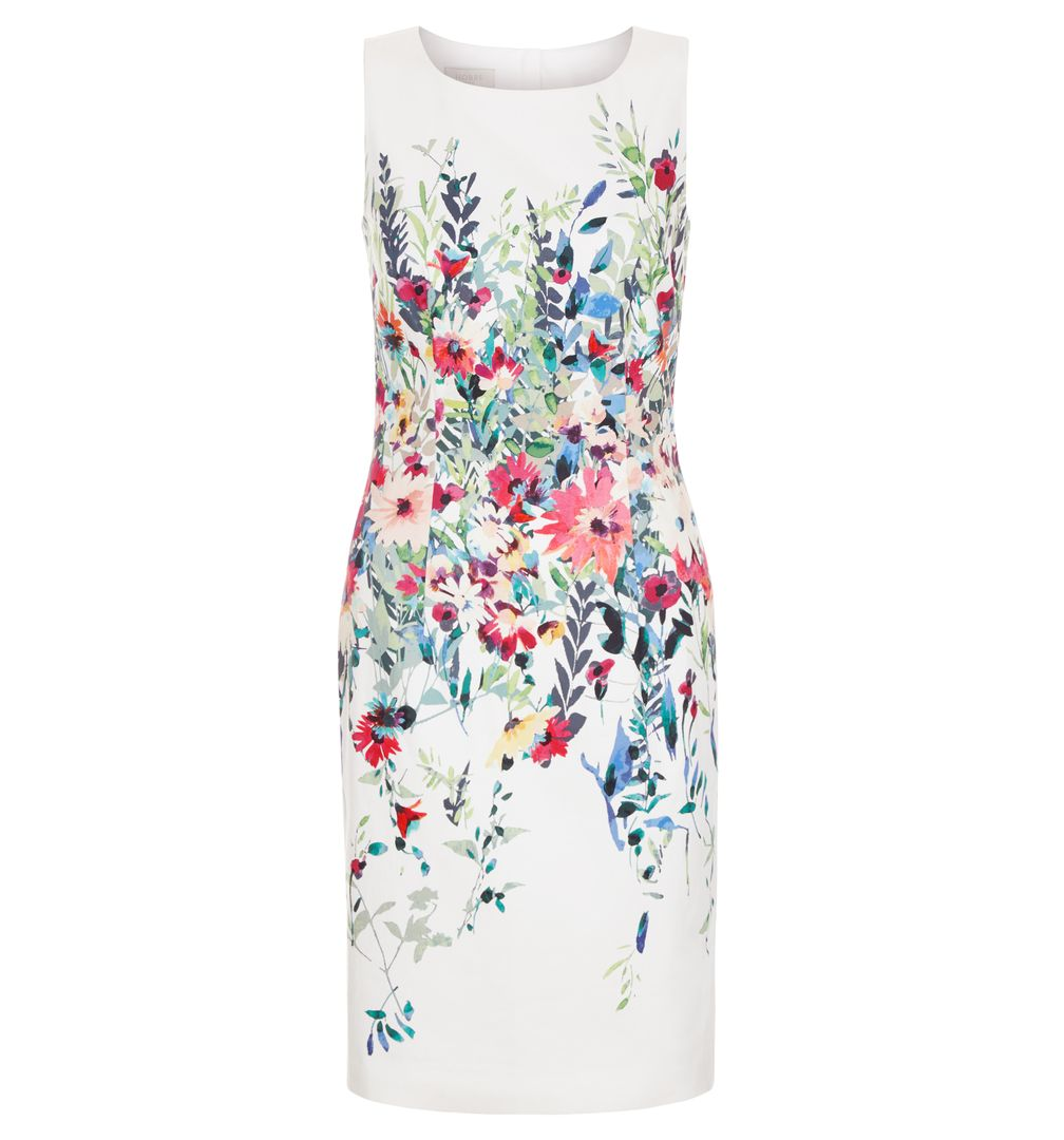 Hobbs Fiona white floral Dress