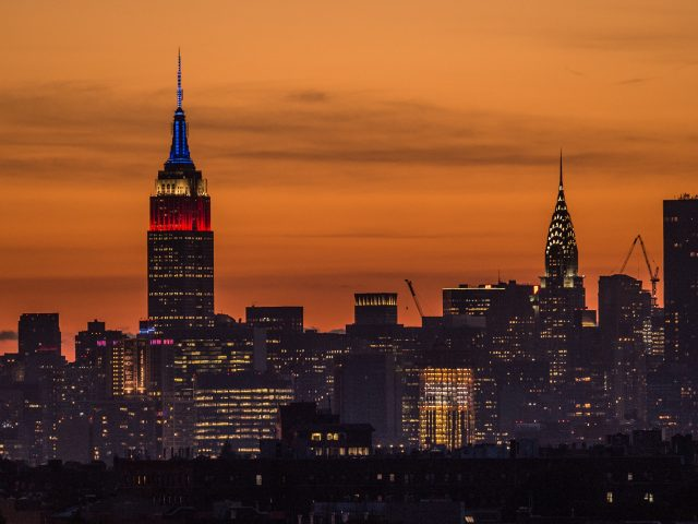 New York's skyline including the Empire State Building and Chrysler Building (Jon Buckle/Empics)