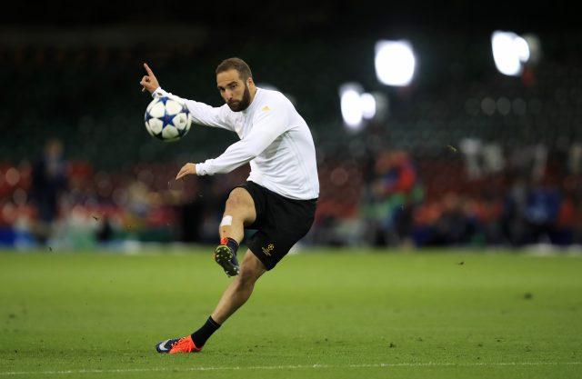 Juventus' Gonzalo Higuain