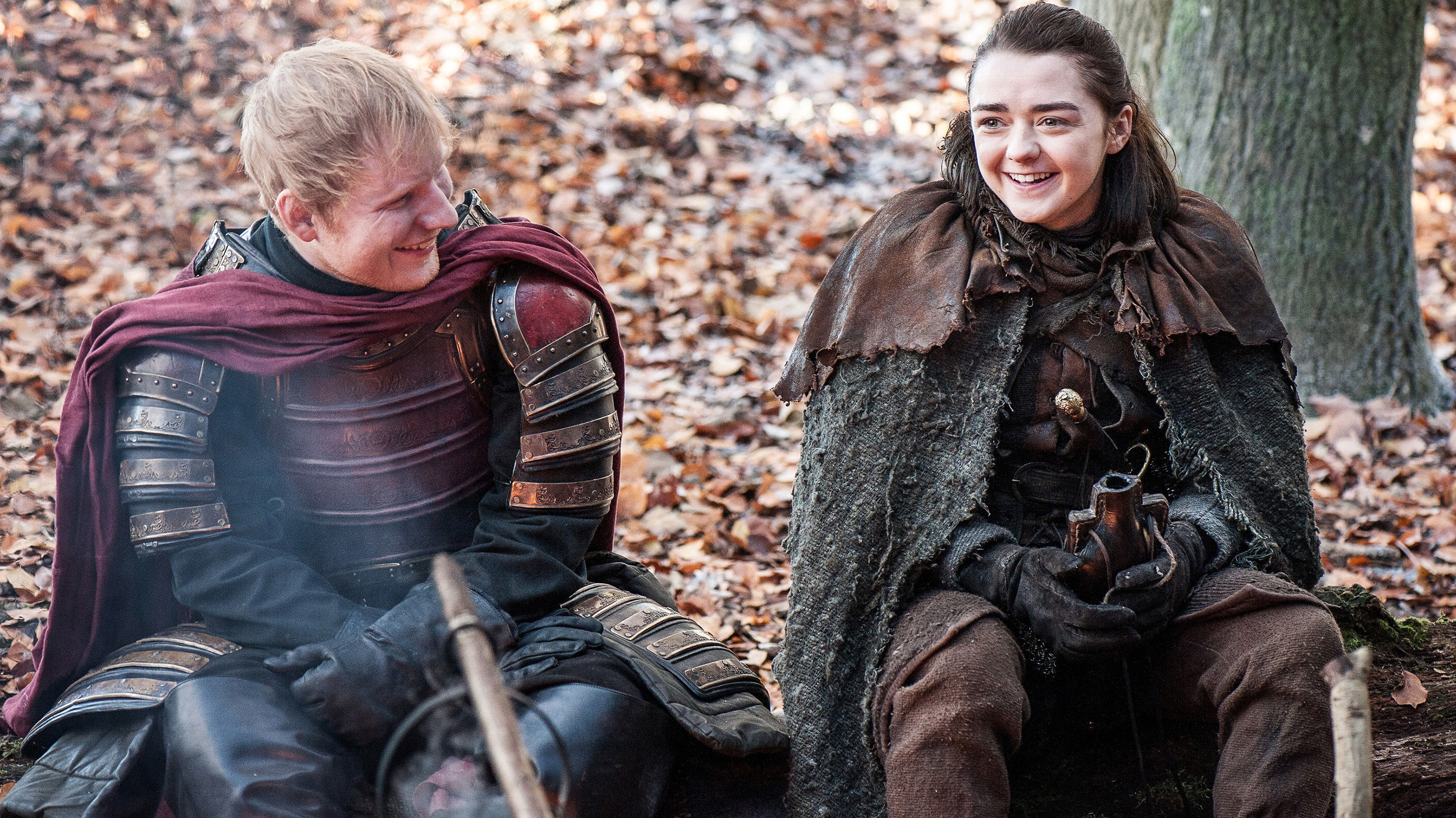 Game Of Thrones' Ed Sheeran and Maisie Williams