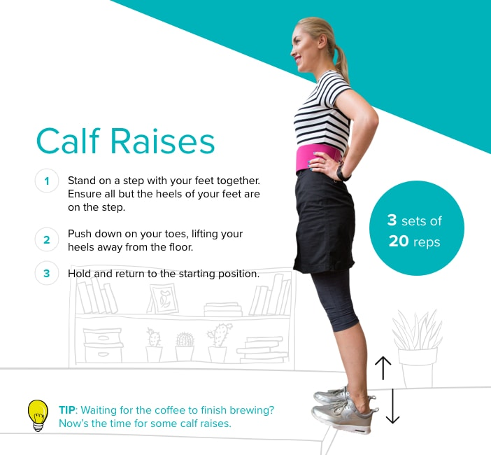 Calf raises graphic (CurrysPC World/Fitbit/PA