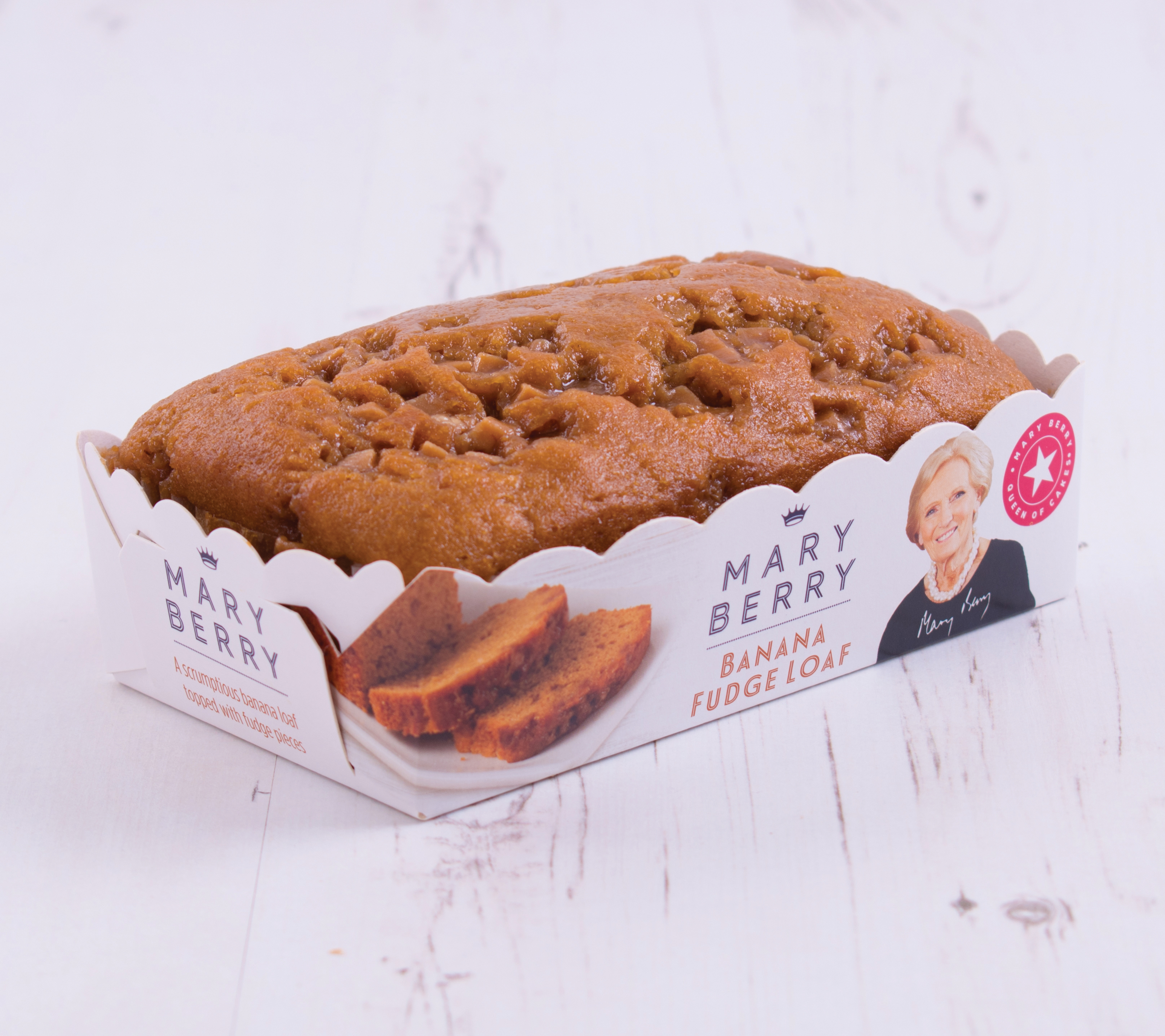 Mary Berry's banana fudge loaf (Finsbury Food Group/PA)