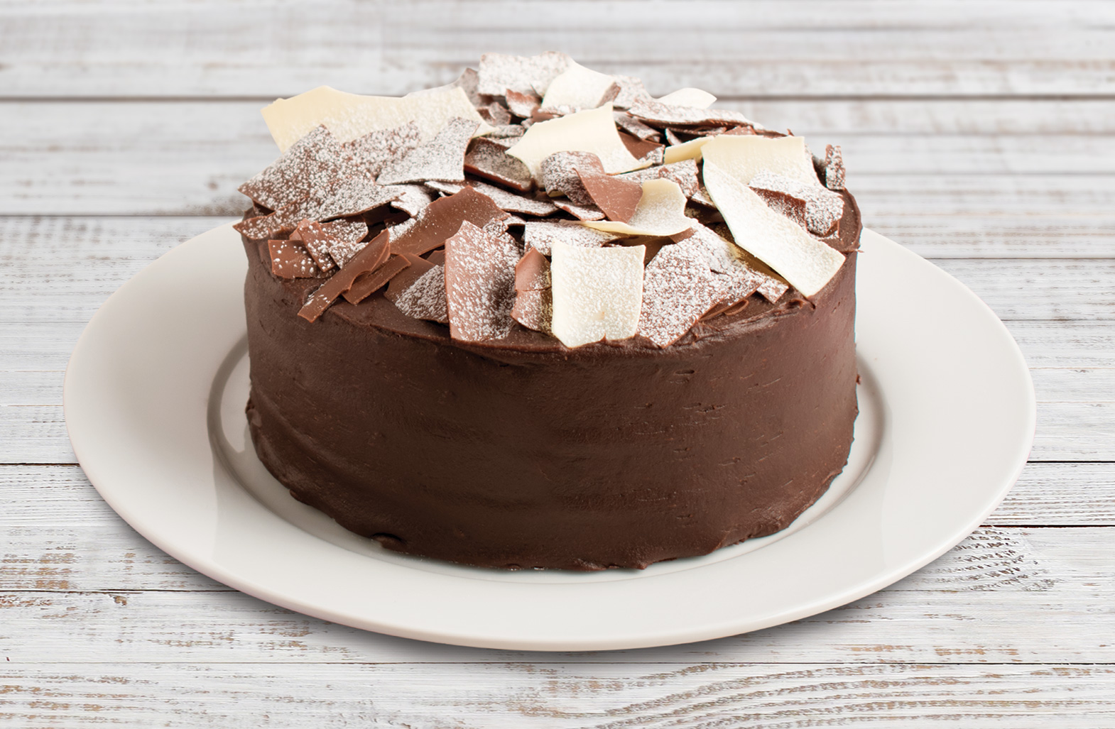 Mary Berry's chocolate celebration cake (Finsbury Food Group/PA)
