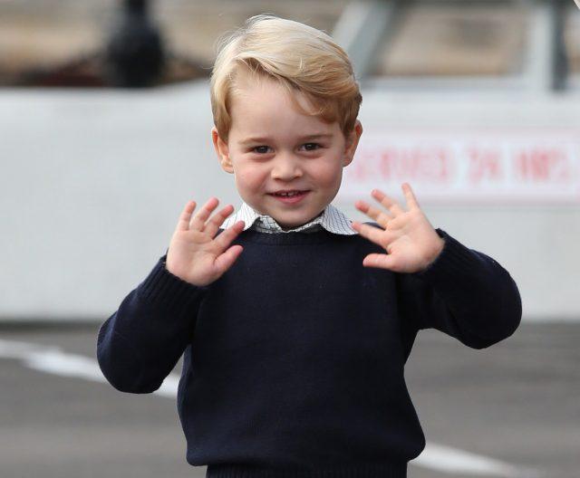 The birthday prince. (Andrew Milligan/PA)