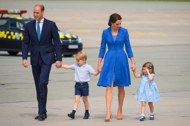 The happy family. (Dominic Lipinski/PA)