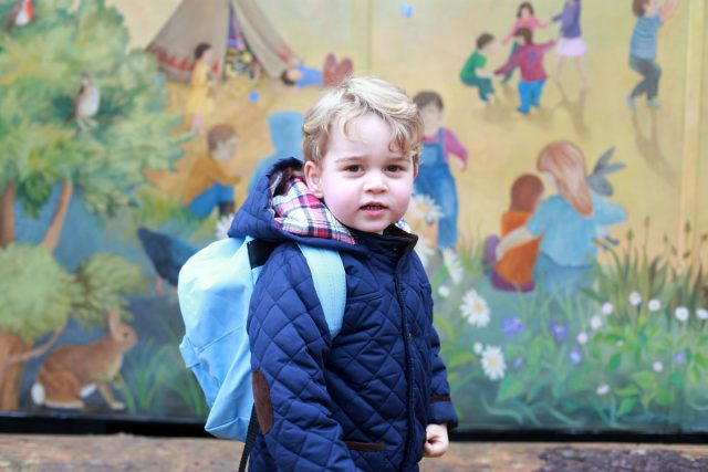 George heading to nursery. (Duchess of Cambridge/PA)