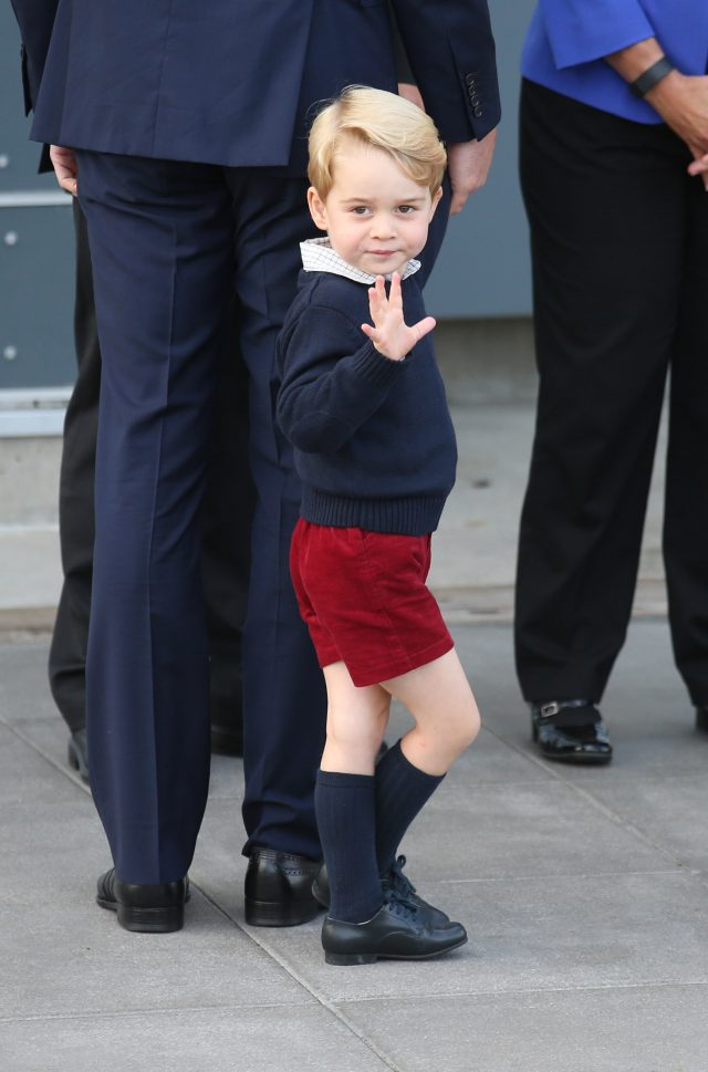Prince George in Canada. (Andrew Milligan/PA)