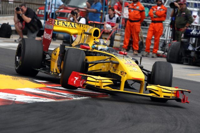 Robert Kubica in action during the Monaco Grand Prix in 2010