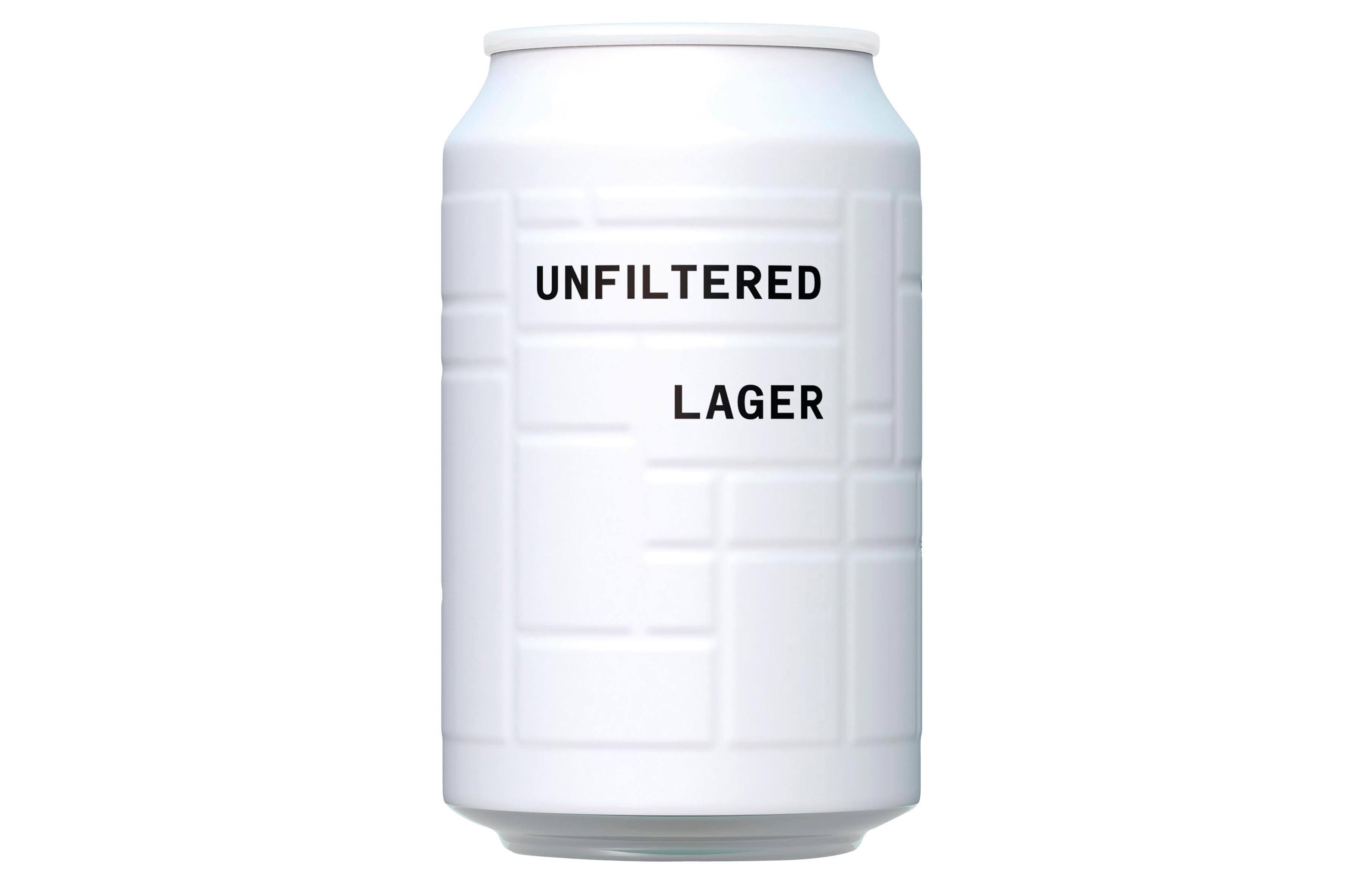 A can of And Union's Unfiltered Lager