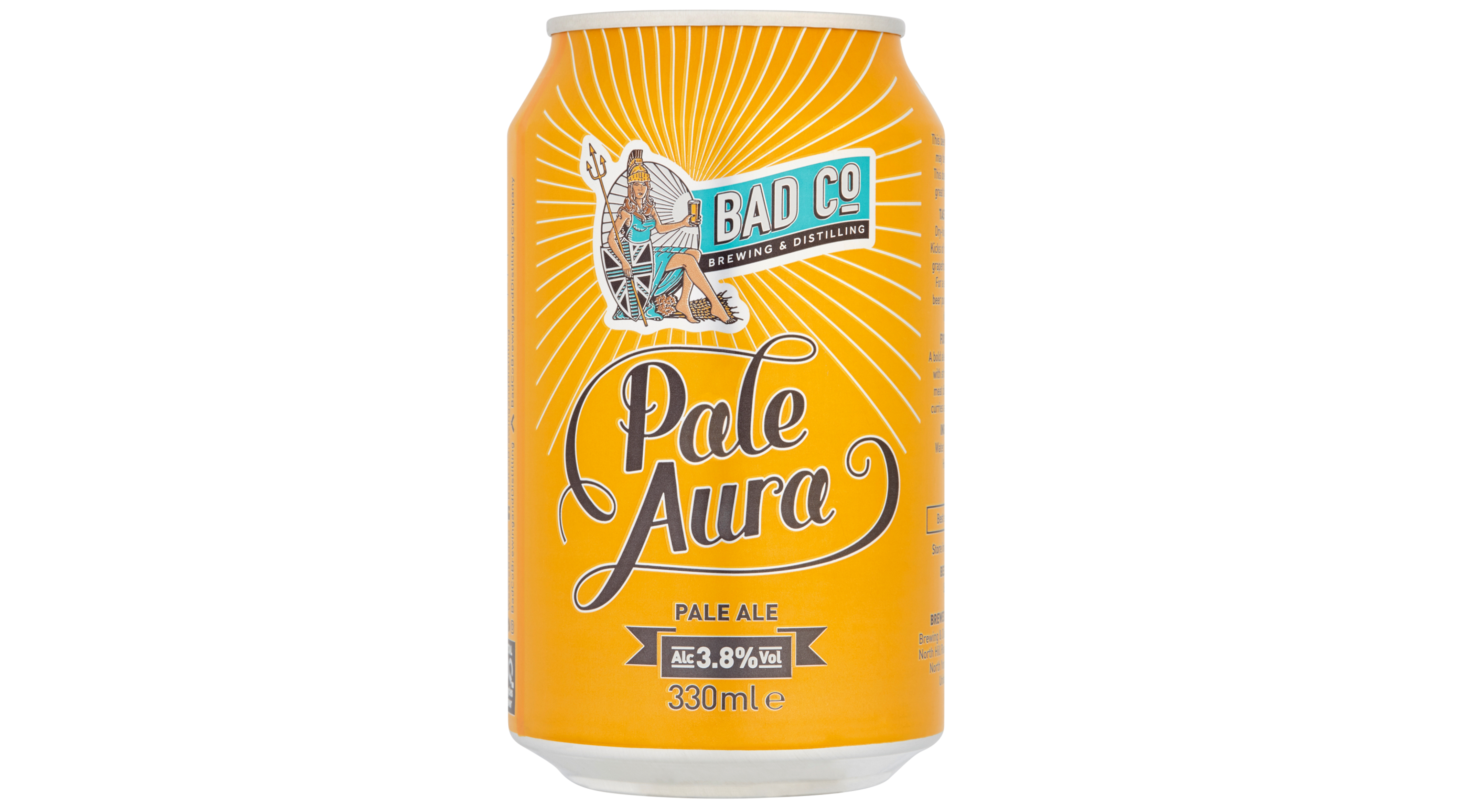 A can of Bad Co's Pale Aura, Asda