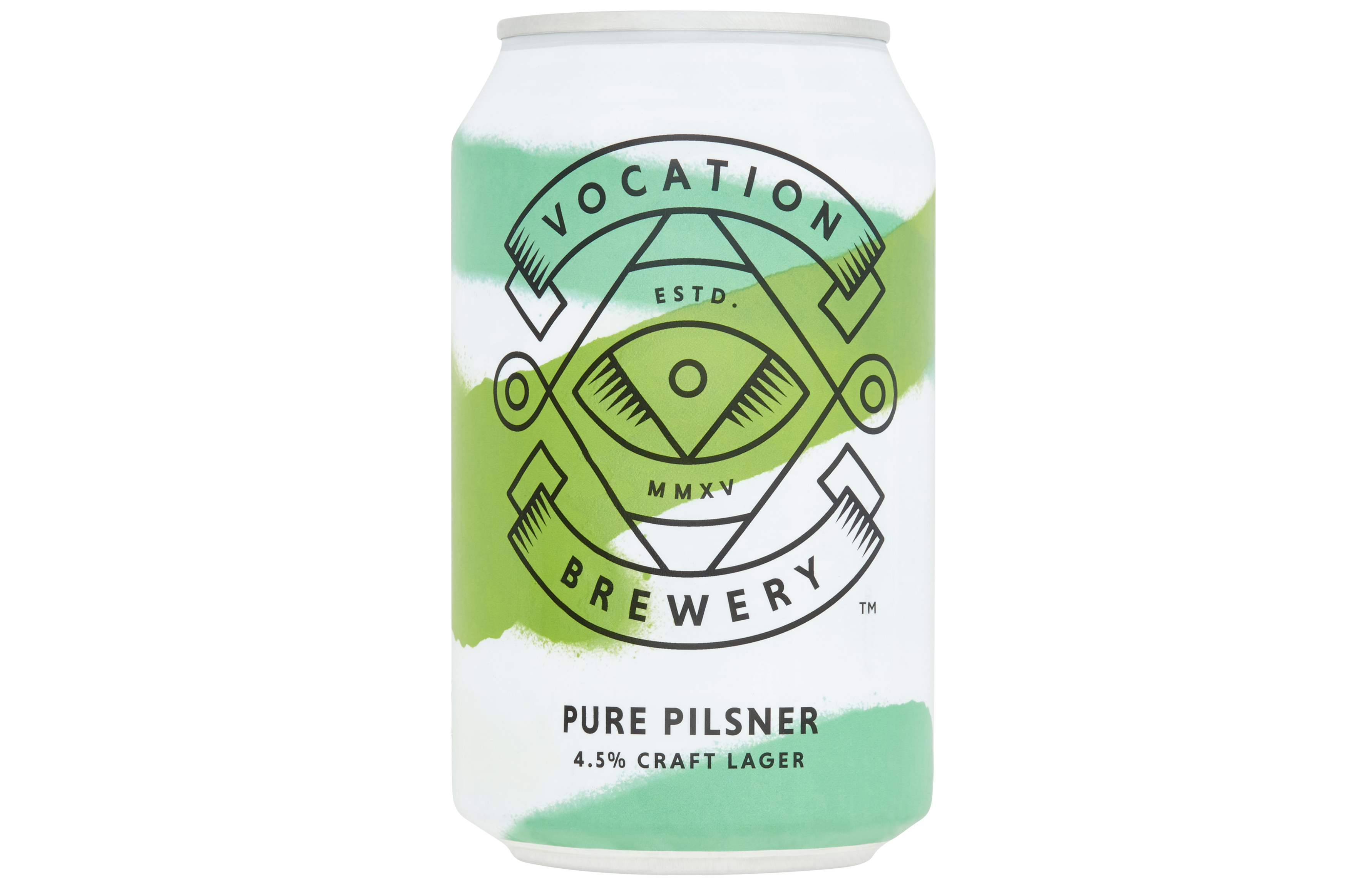 A can of Vocation Brewery's Pure Pilsner, Tesco
