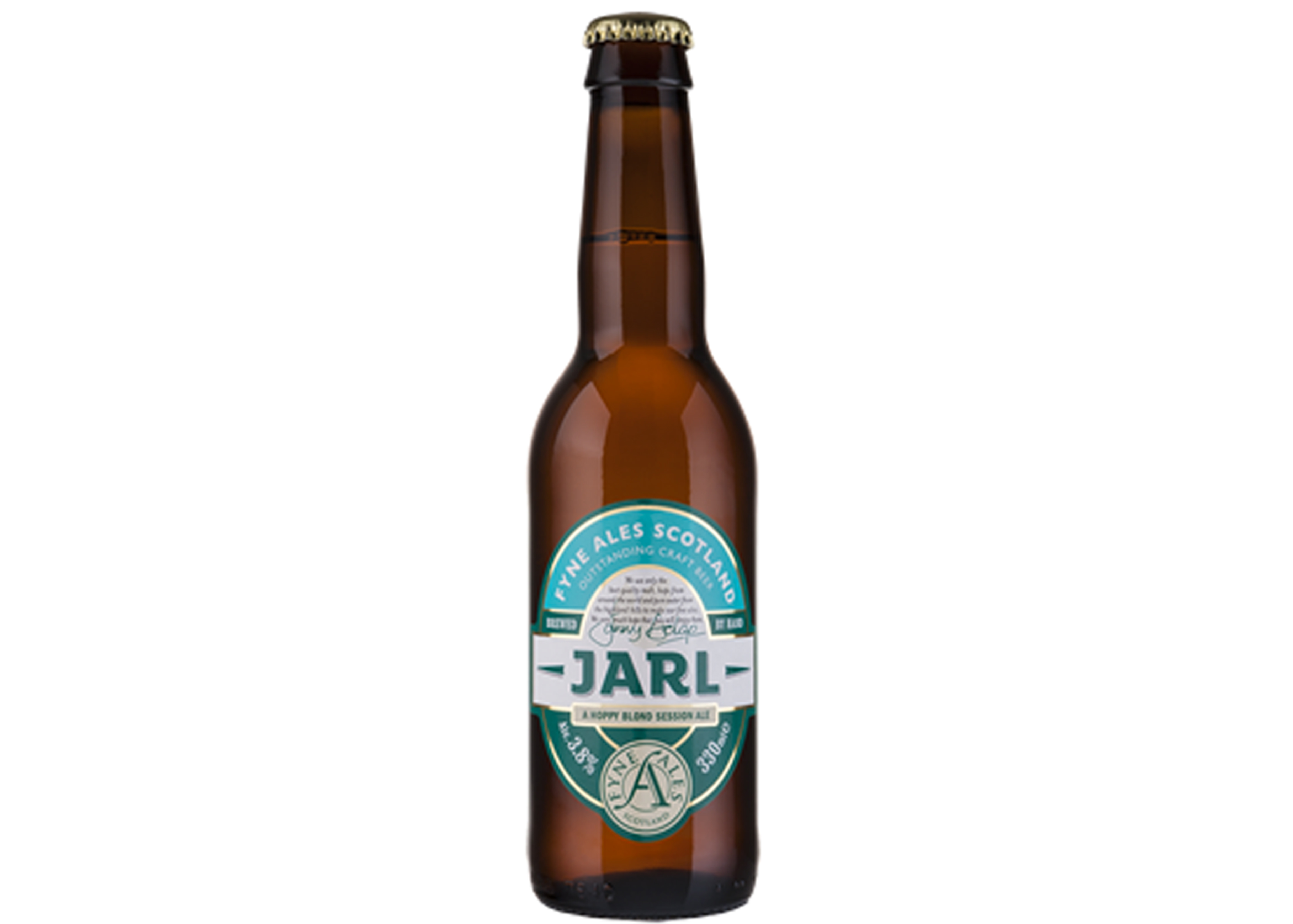A bottle of Fyne Ales' Jarg, from The Scottish Real Ale Shop