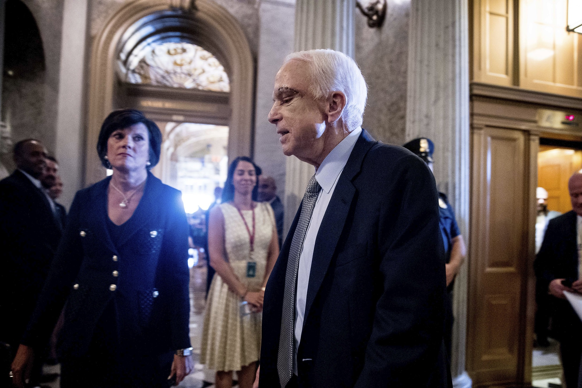 Sen. John McCain, R-Ariz. arrives on Capitol Hil