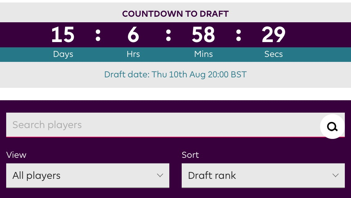 The Fantasy Premier League's new draft game