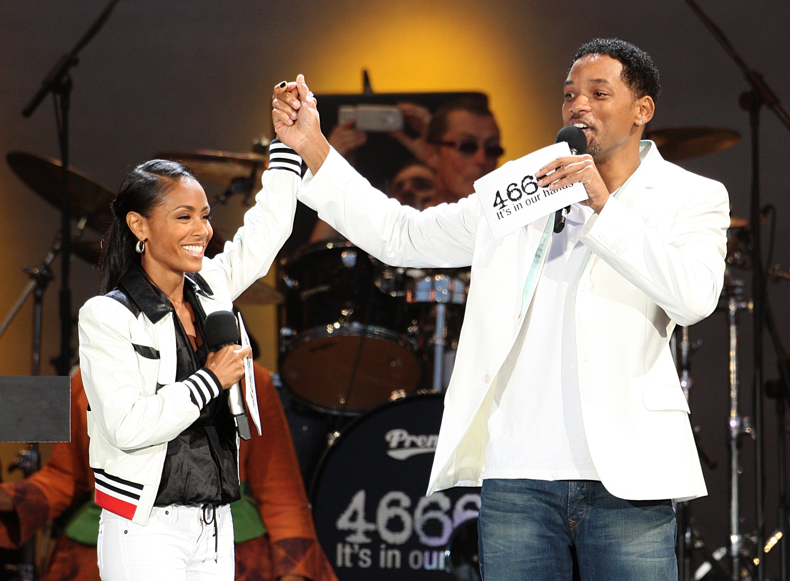 Will Smith and wife Jada Pinkett Smith on stage together