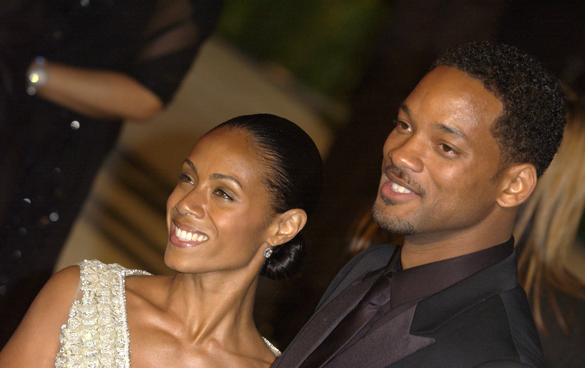 Jada Pinkett Smith and husband Will Smith on the red carpet