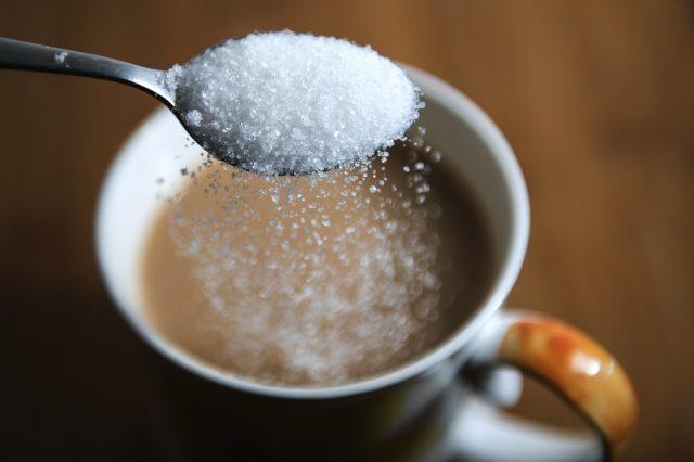 Sugar in a cup of tea