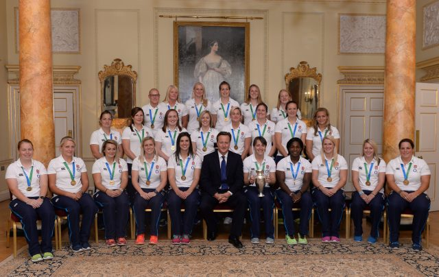 England's Women's Rugby World Cup winning team at Downing Street