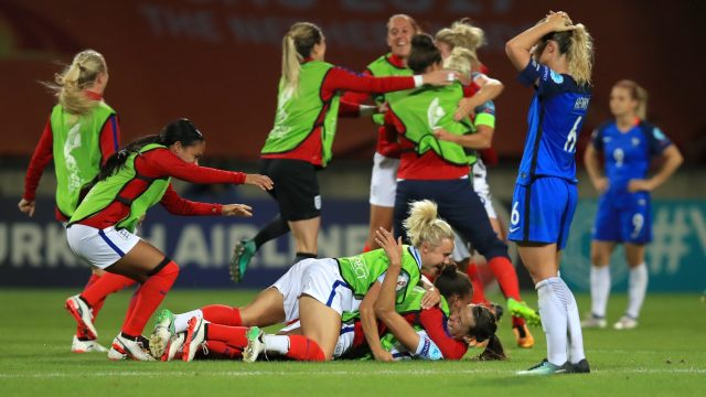 England booked their place in the semi-finals by beating France 1-0