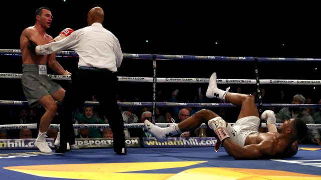 Anthony Joshua was dropped to the canvas for the first time in his career by Wladimir Klitschko