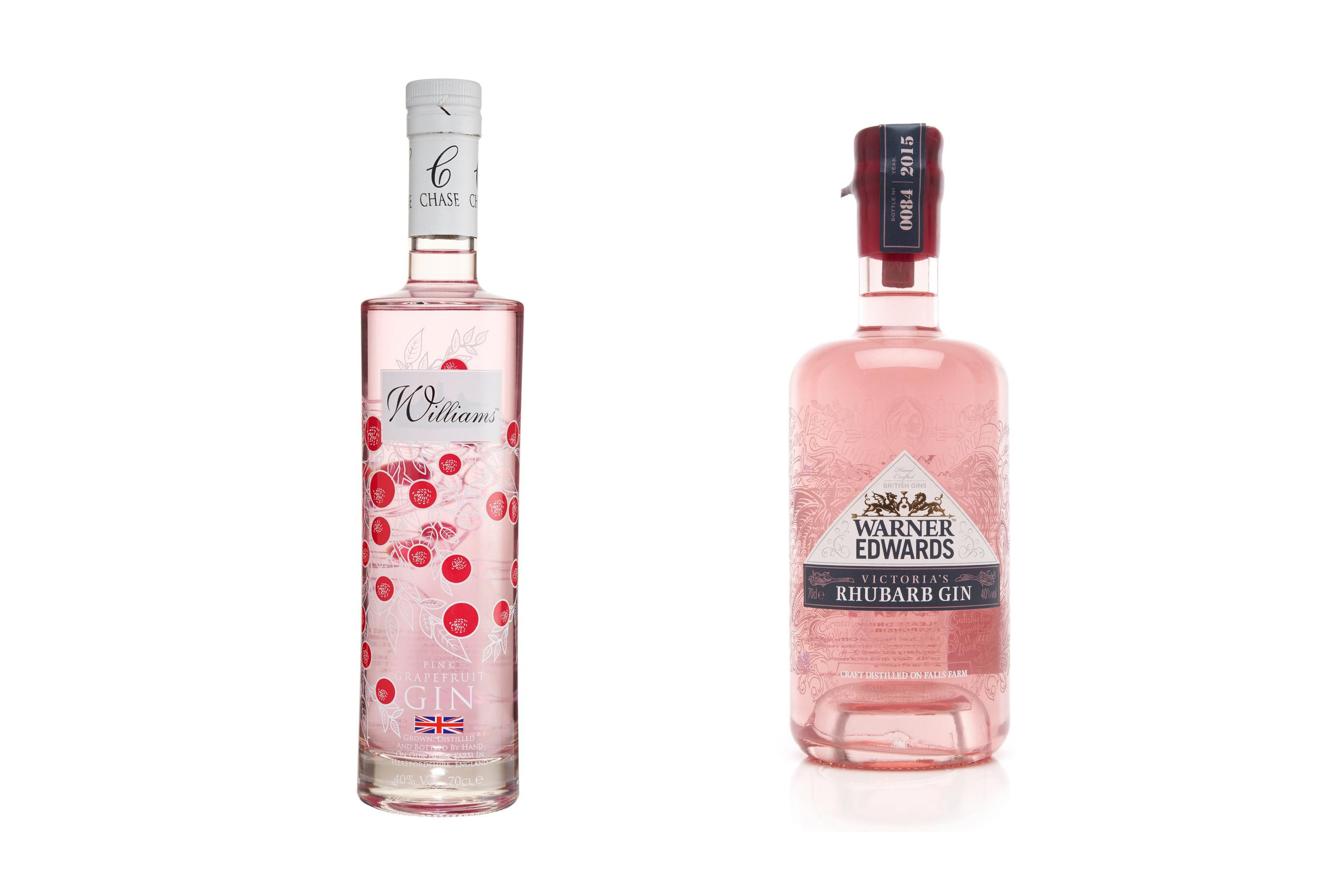 William Chase and Warner Edwards pink gins