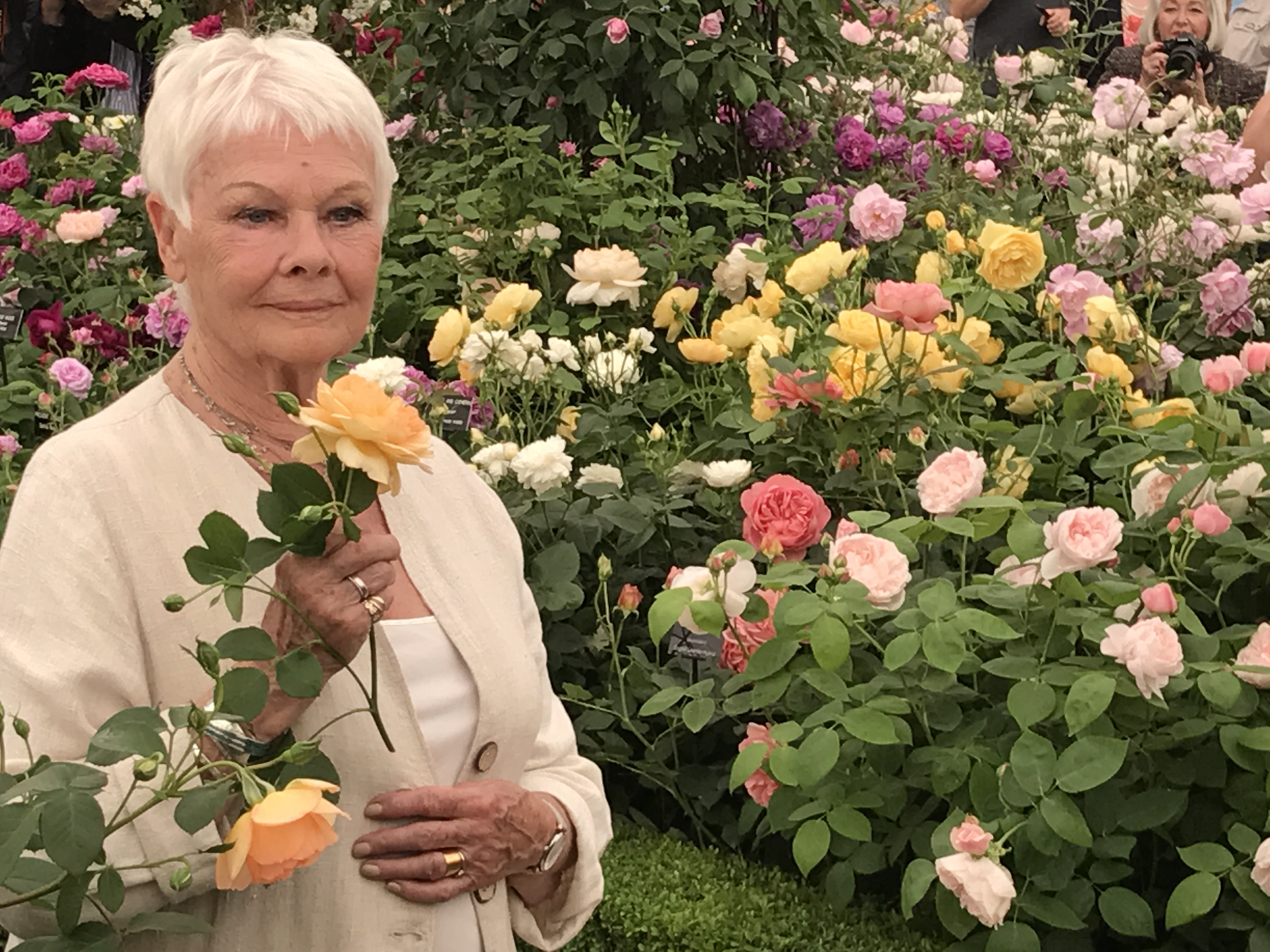 Dame Judi Dench ditched flowers to send him a banana instead (Hannah Stephenson/PA)