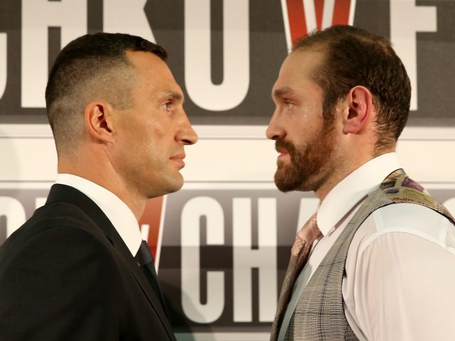 Wladimir Klitschko faces off against Tyson Fury