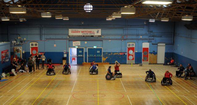 Wheelchair rugby (Matthew Cooper/PA)