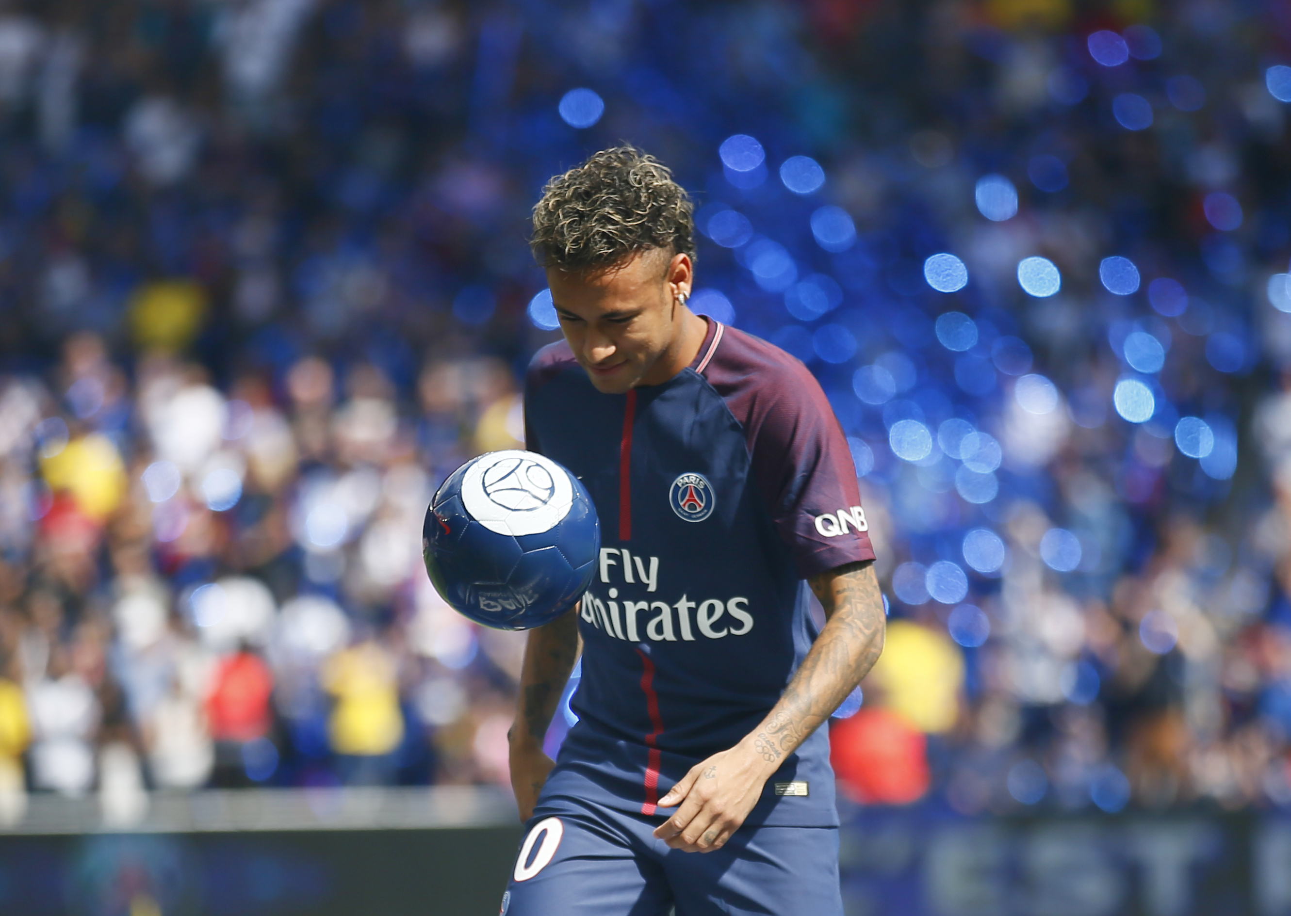 Neymar is presented as a new Paris St-Germain footballer