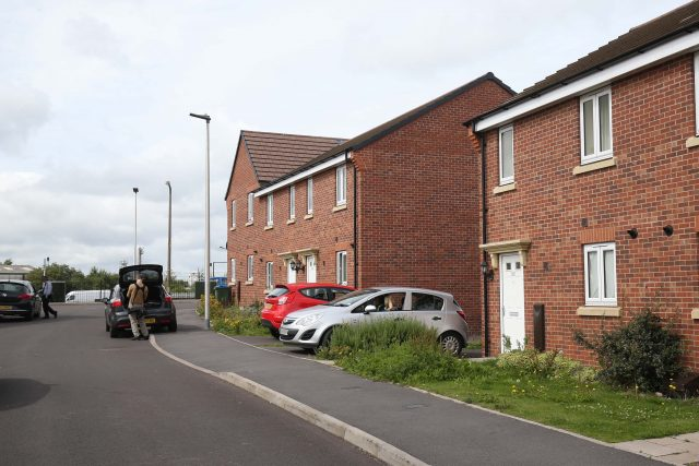 The outside of a house in Oldbury where two bodies were discovered
