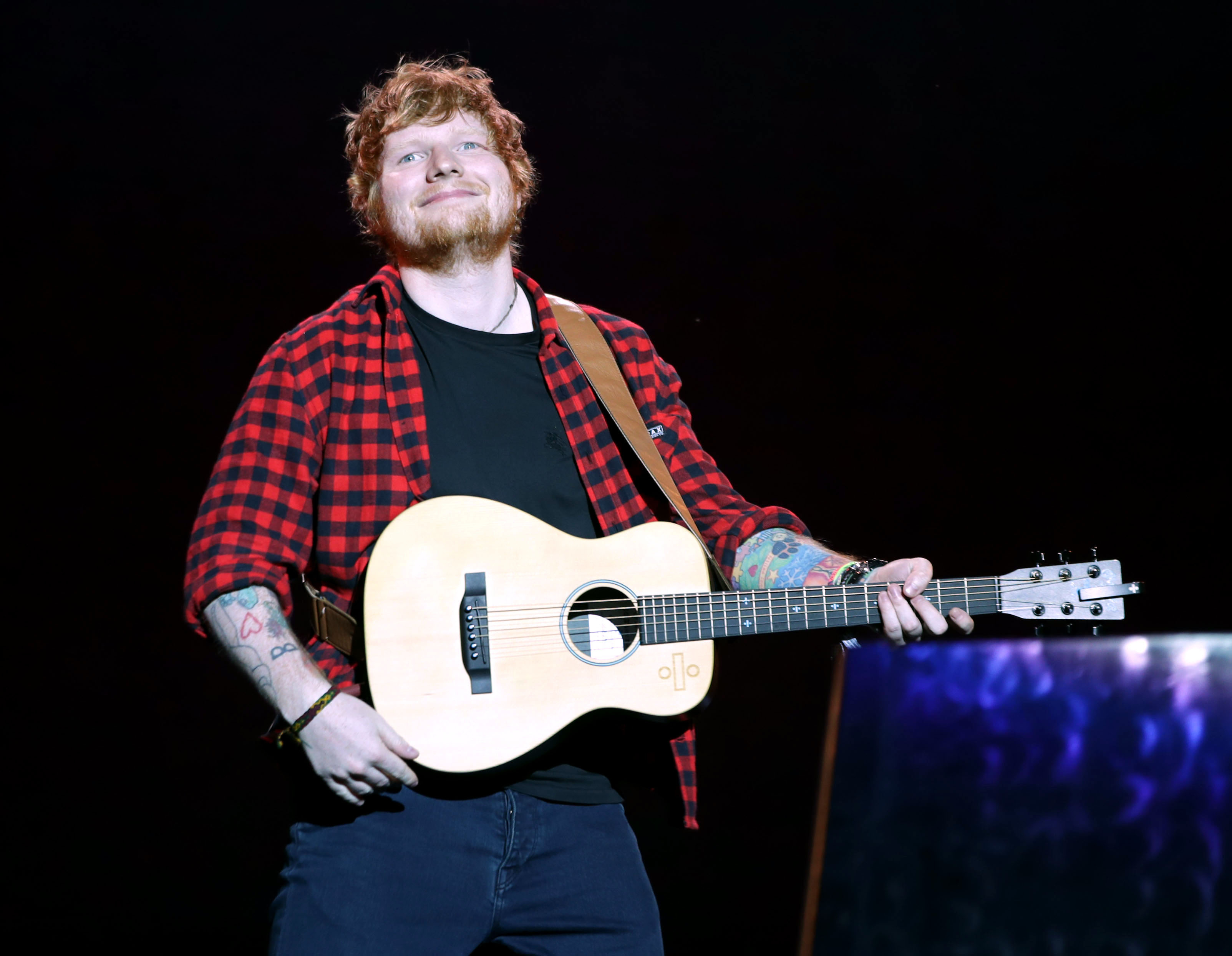 Ed Sheeran on stage