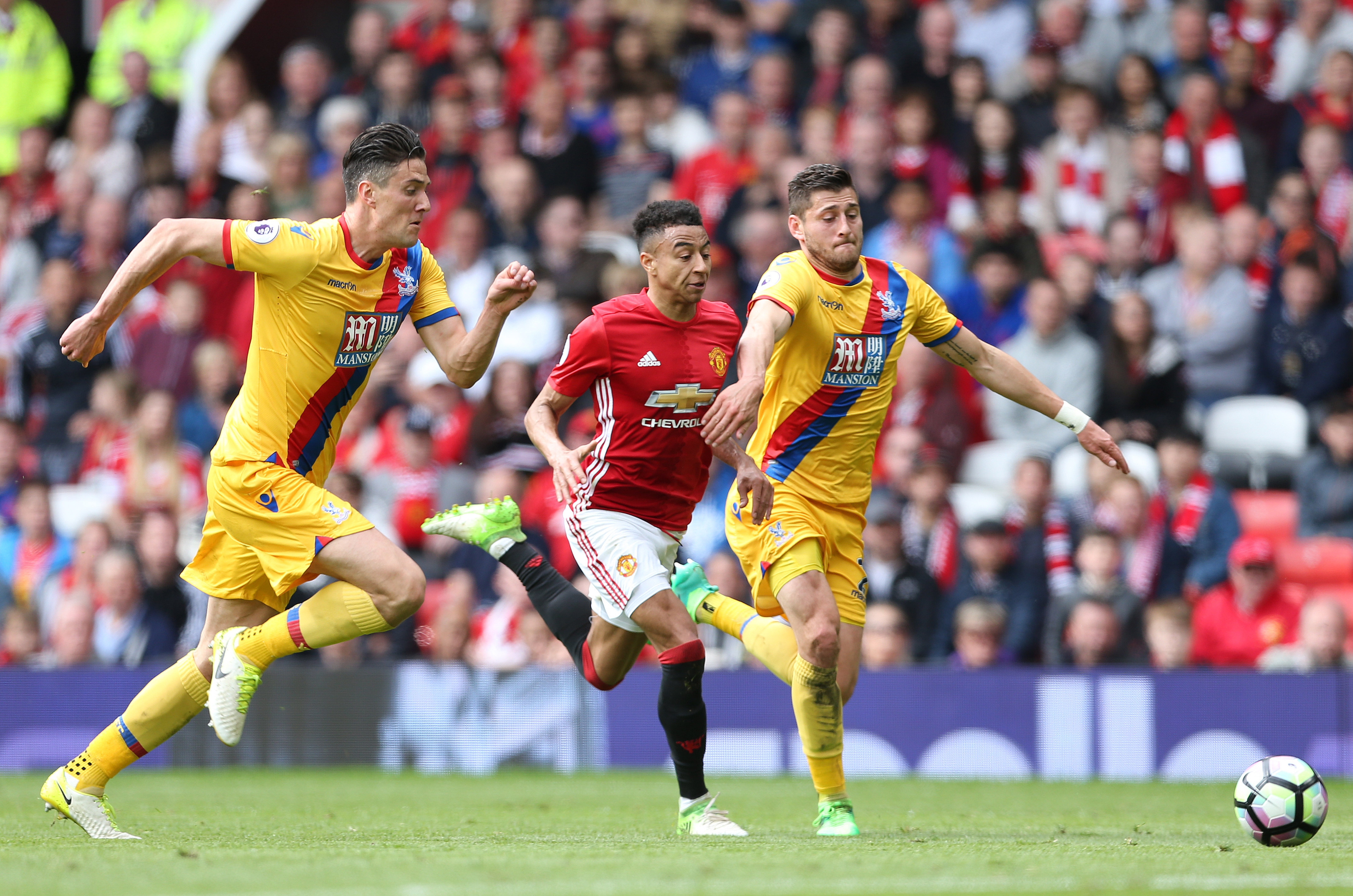 Manchester United v Crystal Palace in the Premier League
