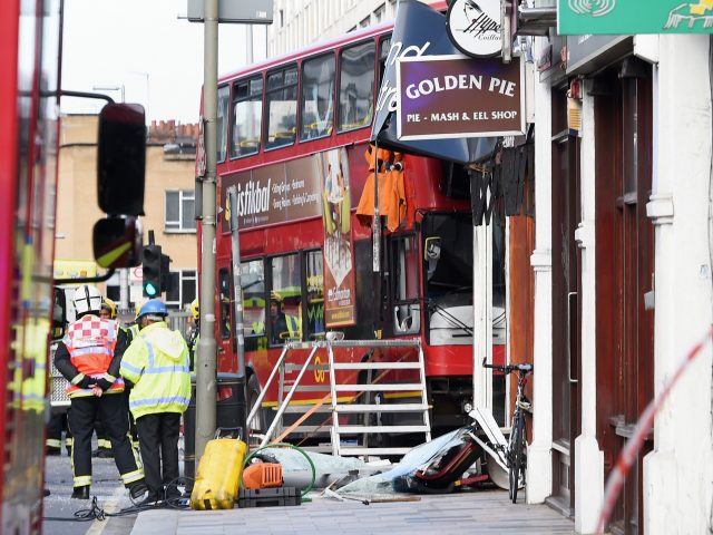 Nine people were treated for minor injuries following the incident in Lavender Hill