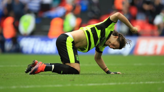 Michael Hefele missed from the penalty spot at Wembley, but Huddersfield still won promotion