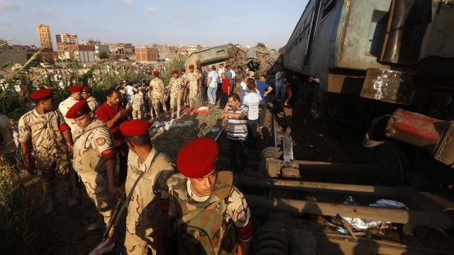 The Egyptian army attended the scene (AP Photo/Ravy Shaker)