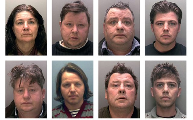 Eight of the 11 members of the Rooney family jailed (Lincolnshire Police/PA)