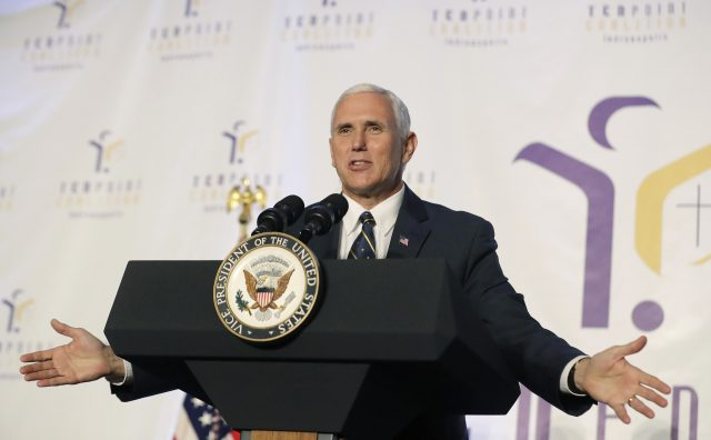 Vice President Mike Pence is travelling to Colombia. (Darron Cummings/AP/PA)