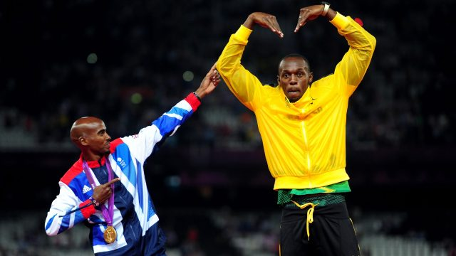 Sir Mo Farah and Usain Bolt have become good friends on and off the track