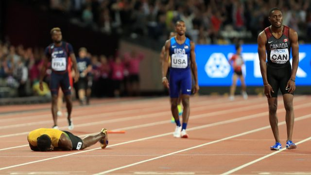 This is not the image Usain Bolt wanted to end his career with