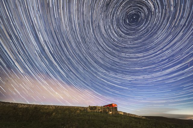 Digital composite photo of the shower near Hawes in the Yorkshire Dales. (Danny Lawson/PA)
