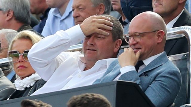 Mike Ashley watched from the stands as Newcastle were beaten