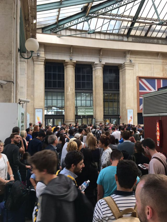 Queues at Gare du Nord station in Paris