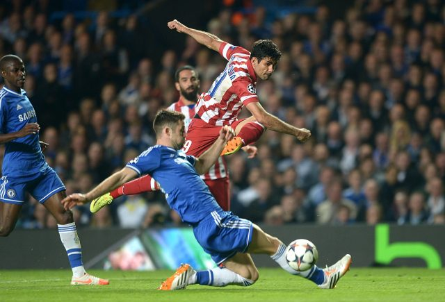 Costa playing for Atletico against Chelsea in 2014 (Adam Davy/PA)