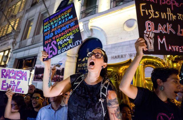 Protesters prepare for Trump's return to NY