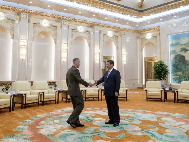 General Dunford meeting Chinese president Xi Jinping (Andrew Harnik/AP)