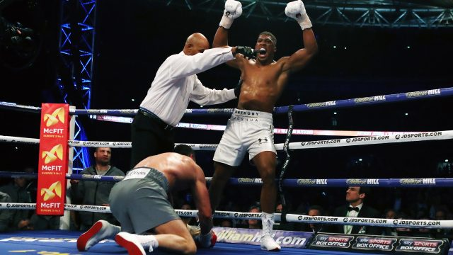 Anthony Joshua beat Wladimir Klitschko in his last fight