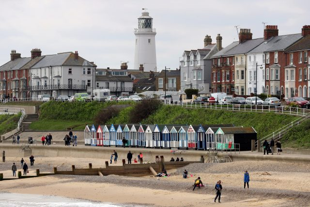 The sea front at Southwold, Suffolk