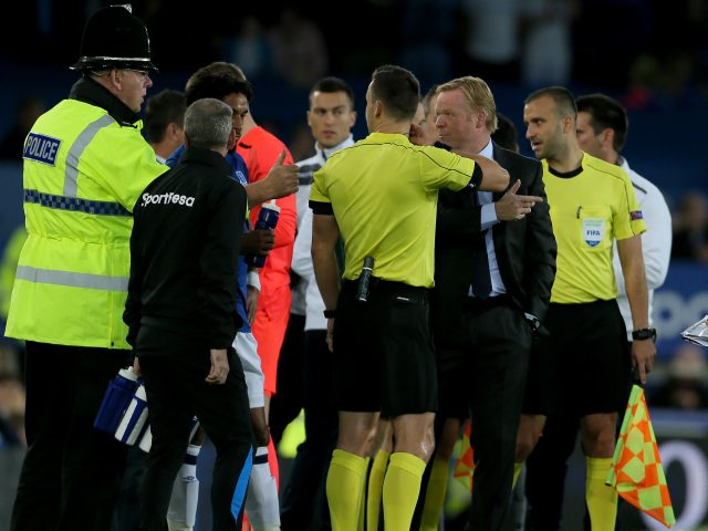 Everton match suspended after violent clashes in crowd