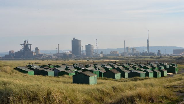 The former SSI Steelworks in Redcar
