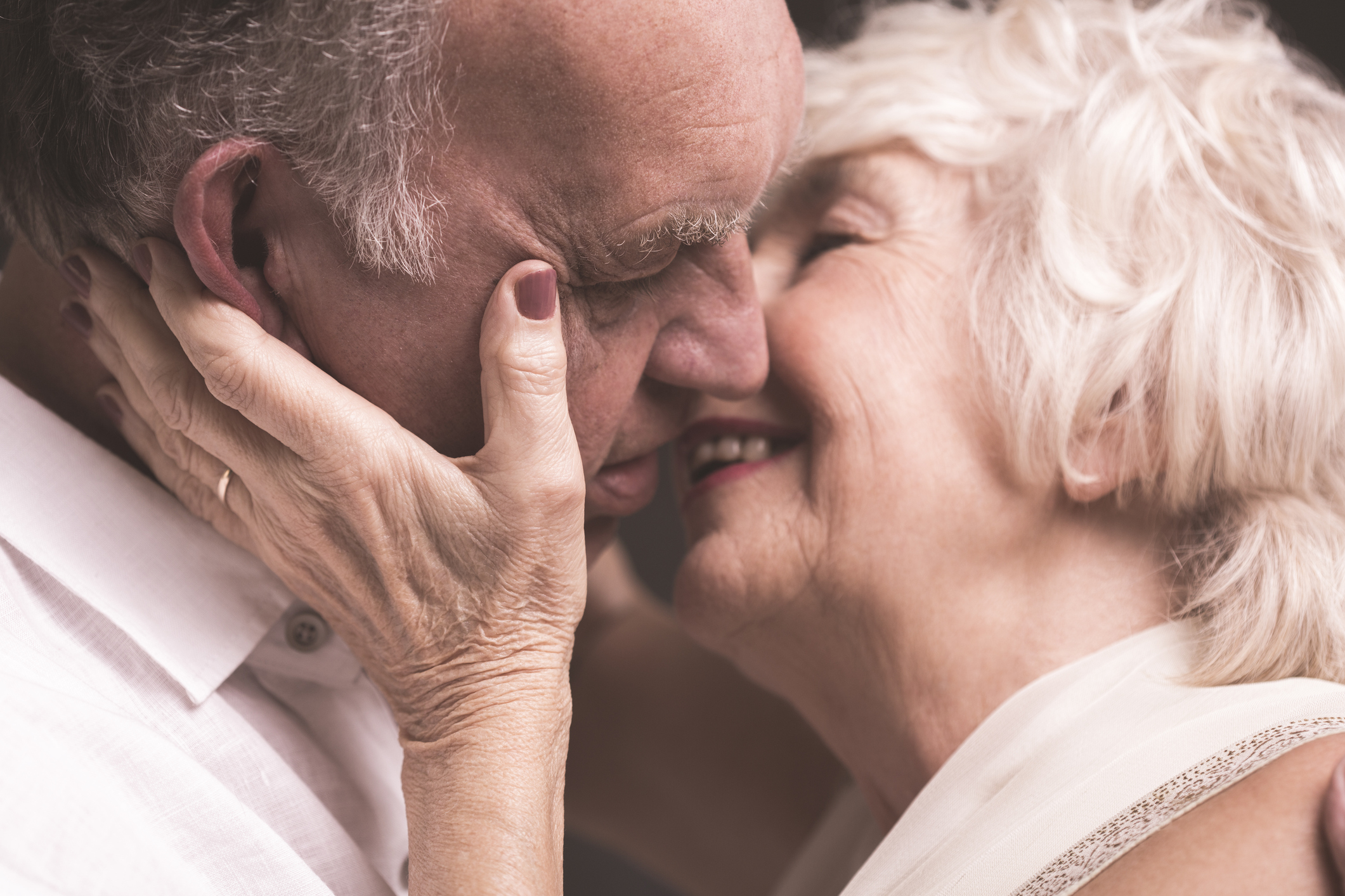 An older couple kissing (Thinkstock/PA)